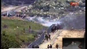 موقع هجوم على مركبة للجيش الإسرائيلي بالقرب من الحدود الإسرائيلية-اللبنانية، 28 يناير 2015 (Screen capture Channel 2)