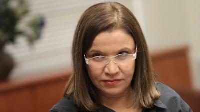 النائبة شيلي يحيموفيتش من قائمة المعسكر الصهيوني ( Miriam Alster/Flash90)