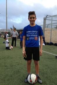 احمد موسى صبحي، في الصف السادس من بيت صفافا، 19 مارس 2015 (Elhanan Miller/Times of Israel)