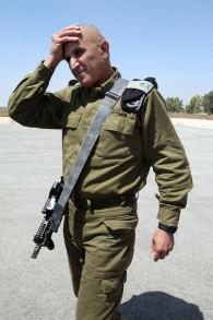 رئيس قيادة الجنوب في الجيش الإسرائيلي، الجنرال شبومو (سامي) ترجمان، 5 اغسطس 2014 (Gideon Markowicz/Flash90)