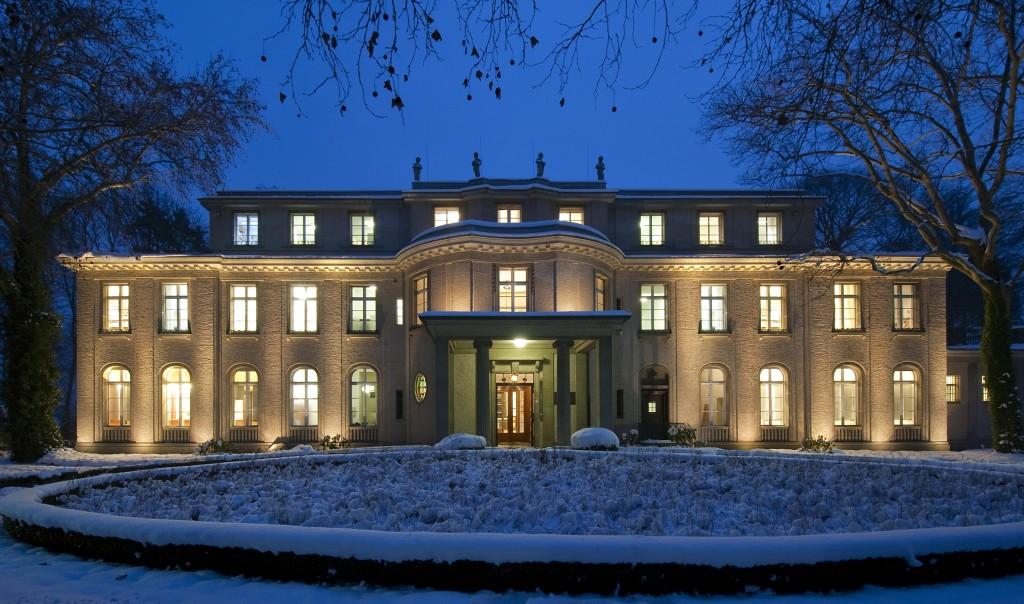 مبنى مؤتمر فانسي، حيث وضع الرايخ الثالث خطة الحل النهائي في شهر يناير 1942 (Courtesy of the House of the Wannsee Conference via JTA)