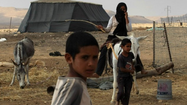 البدو بالقرب من متسبي رامون في النقب، اغسطس 2009 (Kobi Gideon/Flash90)