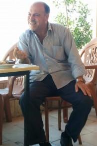 محمد، صاحب متجر في موقع سبسطية الأثري في الضفة الغربية (Ilan Ben Zion/Times of Israel)