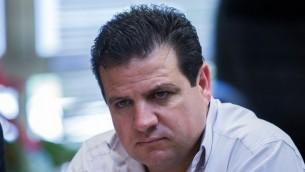 رئيس القائمة العربية المشتركة ايمن عودة (Yonatan Sindel/Flash90)