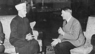 الحاج امين الحسيني يلتقي بأدولف هيتلر، ديسمبر 1941 (CC BY-SA Heinrich Hoffmann, Bundesarchiv, Wikipedia)