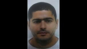 نشأت ملحم، المشتبه بتنفيذ هجوم اطلاق نار في تل ابيب في 1 يناير 2016 (Israel Police)