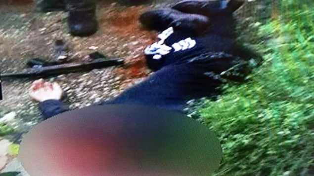 جثمان نشأت ملحم، في صورة نشرتها قوات الامن الإسرائيلية في 8 يناير 2016 (Channel 2)