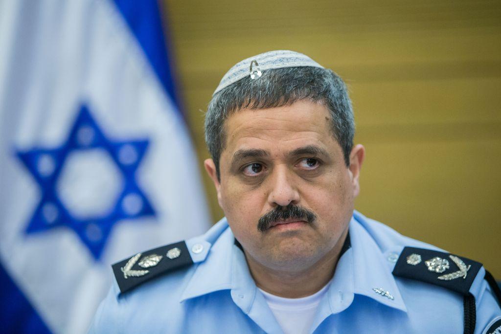 مفوض الشرطة الإسرائيلية روني الشيخ في اجتماع في الكنيست، 9 فبراير 2016 (Yonatan Sindel/Flash90)