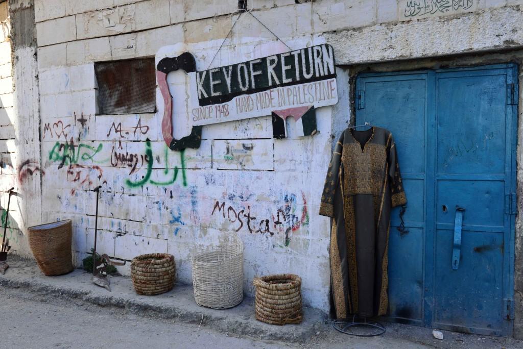 مخيم عايدة بالقرب من بيت لحم في الضفة الغربية