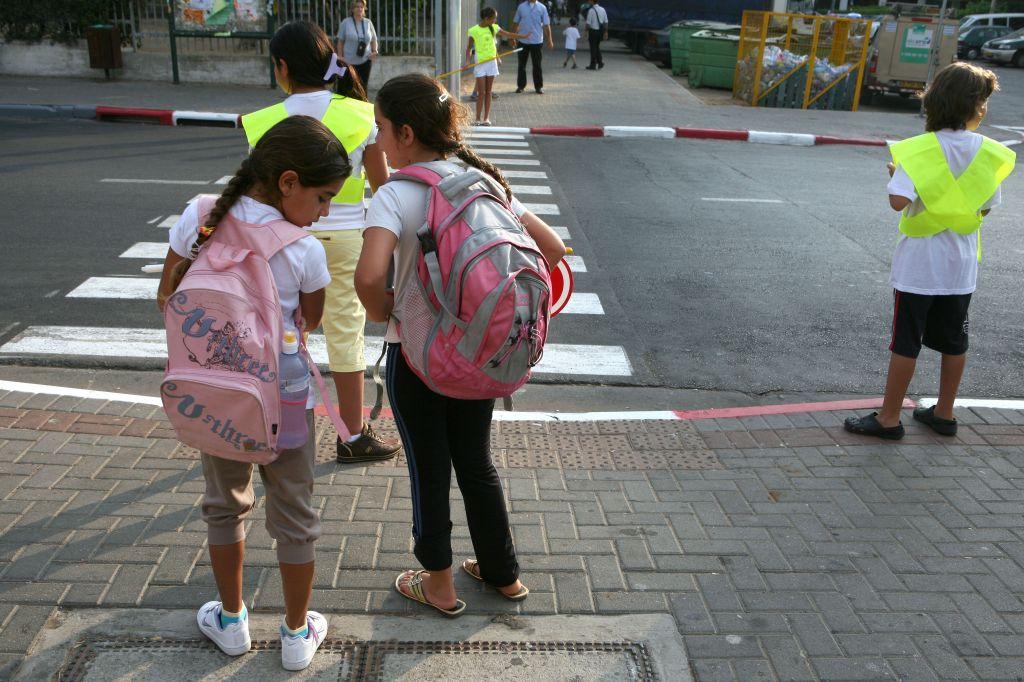 صورة توضيحية لطلاب مدرسة اسرائيليين Liron Almog / Flash 90)