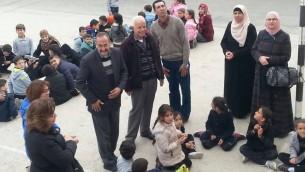 صورة التقطت من منشور تم حذفه من موقع فيس بوك لحدث في مدرسة في جبل المكبر تحدث فيها افراد عائلة منفذ الهجوم الفلسطيني بهاء عليان (Courtesy: Facebook)