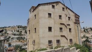 مبنى في حي سلوان في القدس الشرقية استولى عليه يهود يدعون انه كان يتبع لمهاجرين يهود يمنيين (Peace Now)