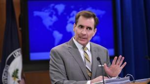 الناطق باسم وزارة الخارجية الأمريكية جون كيربي (AFP PHOTO/MANDEL NGAN)