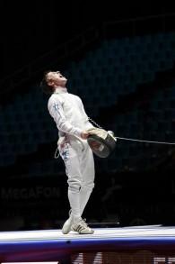 يوفال فراسليش بعد فوزه في بطولة العالم في موسكو عام 2012 (courtesy of Rachel Freilich)