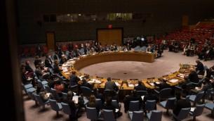 مجلس الامن الدولي خلال اجتماع طارئ حول الاوضاع في سوريا، 25 سبتمبر 2016 (BRYAN R. SMITH / AFP)