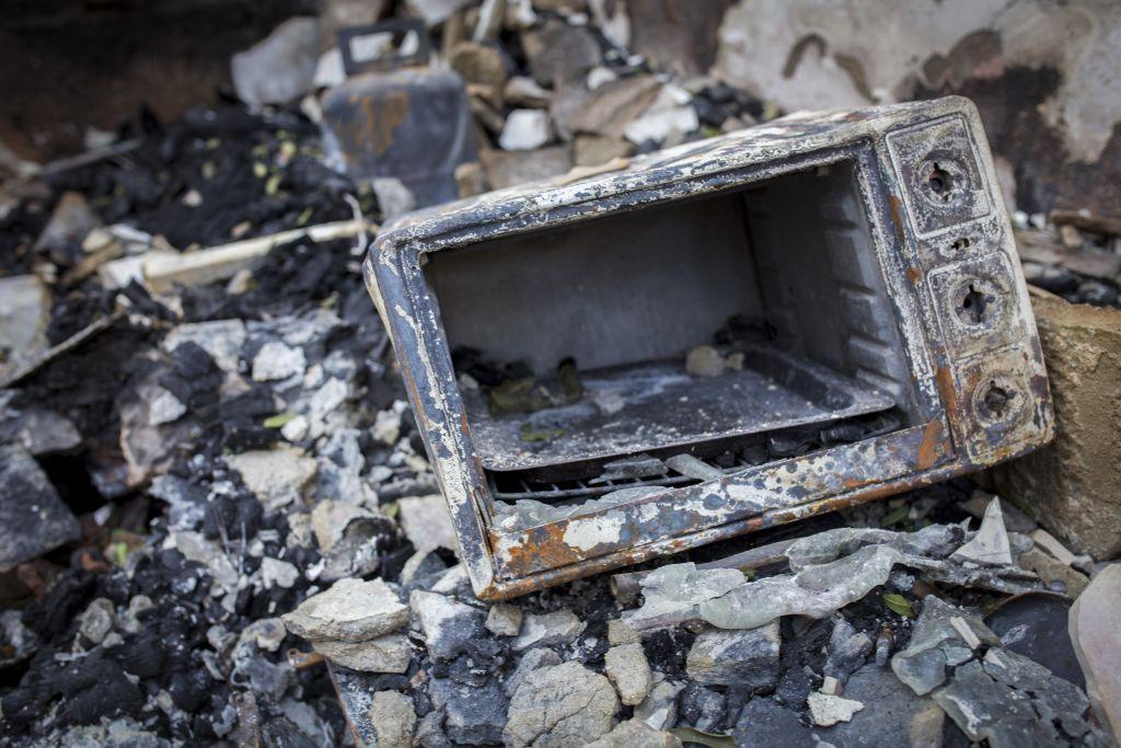 اضرار ناتجة عن حريق بالقرب من زخرون يعكوف، 23 نوفمبر 2016 (Doron Horowitz/Flash90)
