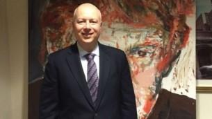 جيسون غرينبلات، مستشار الرئيس الامريكي المنتخب دونالد ترامب حول اسرائيل، في مقر شركة ترامب العالمي في مانهاتن (Uriel Heilman/JTA)