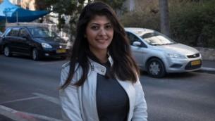 ليان نجمي (22 عاما) من سكان مدينة حيفا، 29 نوفمبر، 2016. (Luke Tress/Times of Israel)