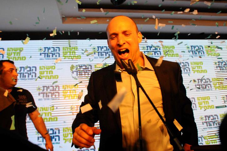 رئيس حزب البيت اليهودي نفتالي بينيت، 232 يناير 2013 (Yossi Zeliger/Flash90)