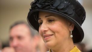 يافا درعي، زوجة وزير الداخلية ارييه درعي، 17 مايو 2015 (Yonatan Sindel/Flash90)