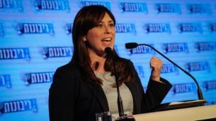 نائبة وزير الخارجية الإسرائيلية تسيبي حطفلي في القدس، 12 فبراير 2017 (Gershon Elinson/Flash90)