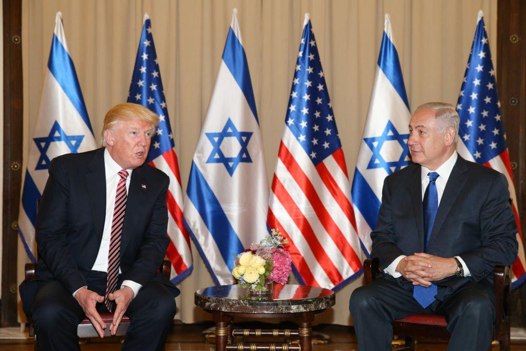 الرئيس الامريكي دونالد ترامب يلتقي برئيس الوزراء الإسرائيلي بنيامين نتنياهو في فندق كينغ ديفيد في القدس، 22 مايو 2017 (Kobi Gideon / GPO)
