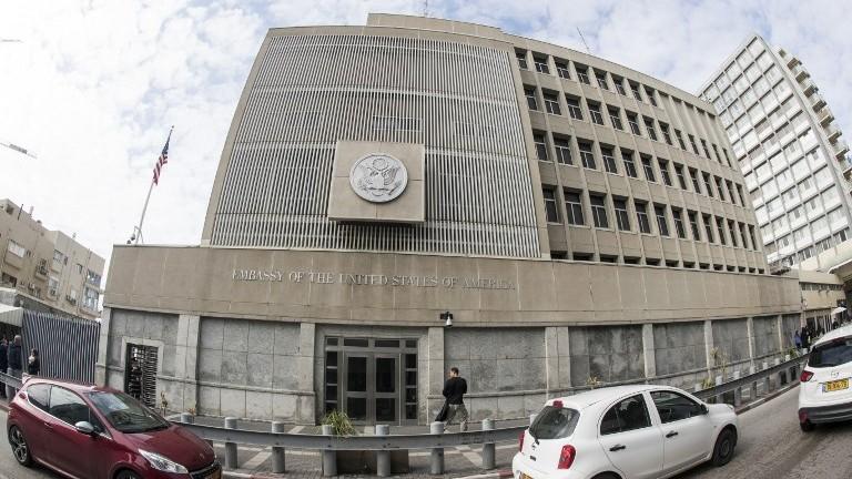 السفارة الأمريكية في تل أبيب، 28 ديسمبر 2016 (AFP Photo/Jack Guez)