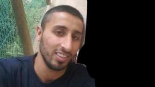 محمد طه (27 عاما)، الذي قُتل برصاص حارس شرطة في كفر قاسم، 6 يونيو 2017 (Courtesy)
