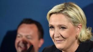 قائدة اليمين التطرف الفرنسي مارين لوبن، 18 يونيو 2017 (Denis Charlet/AFP)