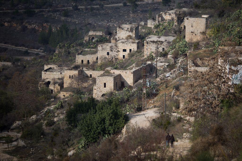 منظر للفتا، على مشارف القدس، 17 ديسمبر 2016. (Hadas Parush/Flash90)