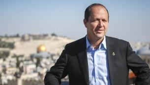 رئيس بلدية القدس نير بركات (Yonatan Sindel/Flash90)