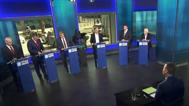 لقطة من المناقشة اللانتخابات لتمهيدية لحزب العمل استضافتها أخبار والا في 4 يونيو 2017. (screen capture: Walla news)