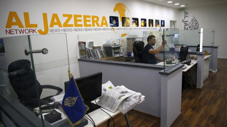 مكاتب الجزيرة في القدس، 31 يوليو 2017 (AFP Photo/Ahmad Gharabli)