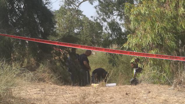 الشرطة في موقع مقتل ميخال حليمي في حولون في ضواحي تل أبيب في يوليو 2017. (Israel Police)