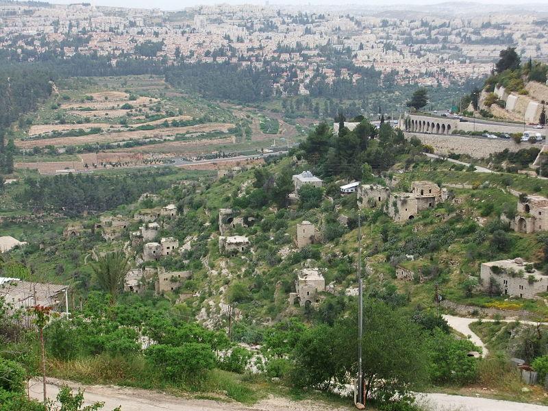 بلدة ليفتا عند مدخل القدس (Wikimedia Commons/יעקב, CC BY-SA 3.0)