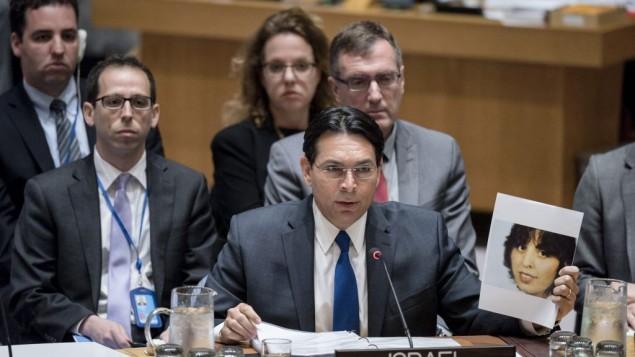 السفير الإسرائيلي للامم المتحدة داني دانون، 20 ابريل 2017 (UN Photo/Rick Bajornas)