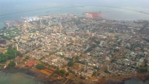 صورة جوية لكوناكري، عاصمة غينيا. (CC BY-SA, Wikipedia)