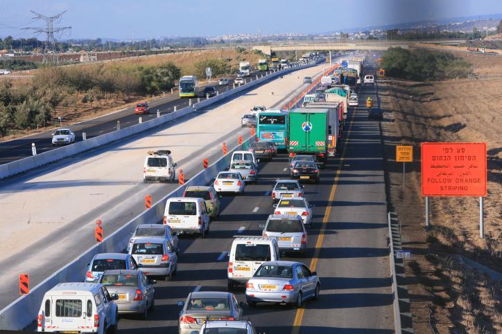 الطريق رقم 6، الطريق السريع العابر لإسرائيل. (Chen Leopold/Flash90)