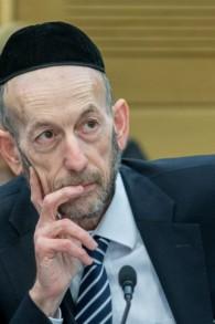 عضو الكنيست من حزب 'يهدوت هتوراه'، أوري ماكليف (Yonatan Sindel/Flash90)