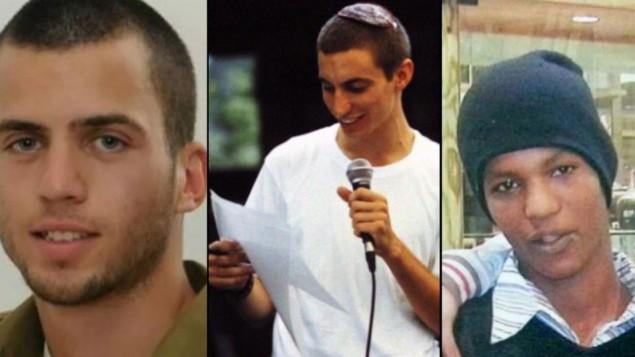 أورون شاؤول، هادار غولدن وأبراهام منغستو. (Flash90/The Times of Israel)