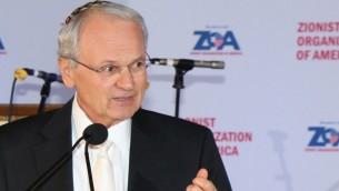مورتون كلاين رئيس المنظمة الصهيونية الأمريكية. (Joseph Savetsky/courtesy of ZOA)