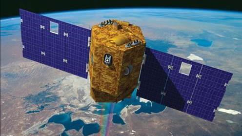رسم للقمر الصناعي 'فينوس'، أول قمر صناعي إسرائيلي للبحوث البيئة، الذي تم إطلاقه في 2 أغسطس، 2017. (وكالة الفضاء الإسرائيلية)