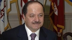 الزعيم الكردي العراقي مسعود بارازاني. (Helene C. Stikkel/Wikimedia Commons)