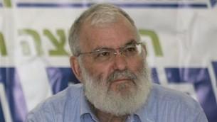 مستشار الأمن القومي الإسرائيلي السابق يعكوف أميدرور. (Olivier Fitoussi/Flash90)