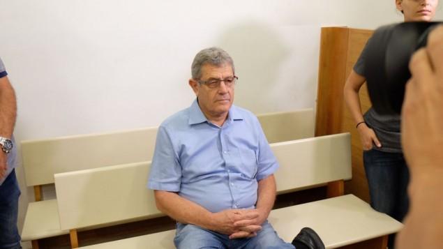 ميكي غانور خلال جلسة في محكمة الصلح في ريشون لتسيون، 21 يوليو، 2017. (Flash90)
