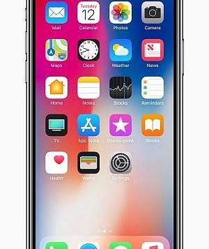 الشاشة الرئيسية لجهاز أبل الجديد ايفون X. (Courtesy: Apple)