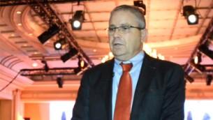 أرييل ليفيت، نائب مستشار الأمن القومي السابق، يتحدث في مؤتمر عدم الانتشار النووي في باريس في 10 أكتوبر 2017. (Screen capture)