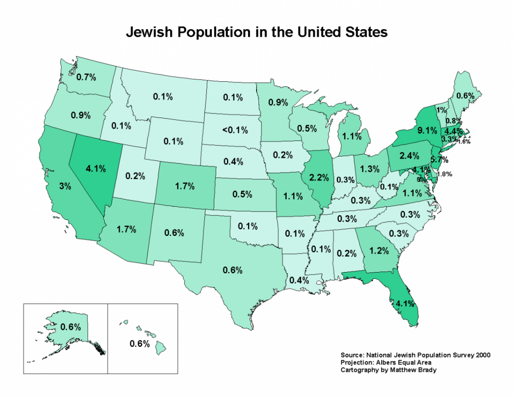 the overall us jewish population now about 68 million and the jewish population in the south have grown although much of that southern growth has