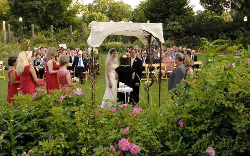 Elegant Above: The Atlanta Botanical Gardenu0027s Rose Garden Provides An Elegant,  Intimate Setting For A Wedding.