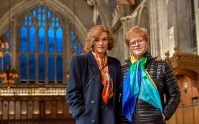 """Rachel Weisz (left) plays Deborah Lipstadt in """"Denial."""" (Photo by Liam Daniel)"""